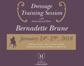 Bernadette Brune Training Seminar at Le Haras de Malleret on 24 - 25 January 2018