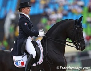 Karen Tebar and Don Luis at the 2016 Olympics :: Photo © Astrid Appels