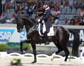 Adrienne Lyle and Salvino at the 2017 CDIO Aachen :: Photo © Astrid Appels