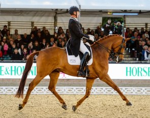 Carl Hester and Barolo at the 2017 Royal Windsor Horse Show