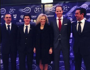 Ricardo Ramalho, Vasco Mira Godinho, Maria Caetano, Boaventura Freire and Daniel Pinto at the 2018 Portuguese Sports Gala in Estoril