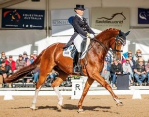 Judy Dierks and Diamond Star at the 2017 Australian Championships :: Photo © Stephen Mowbray