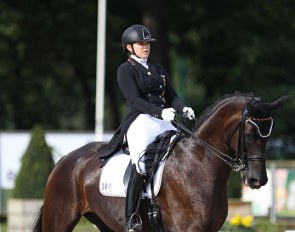 Anna Abbelen and First Lady at the 2017 European Young Riders Championships