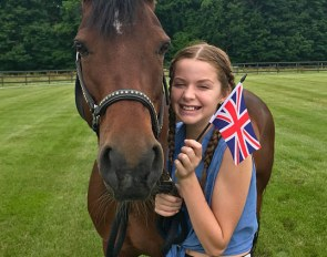 Annie Klepper (here with Gigi) will travel to the U.K. as part of the Dressage4Kids group