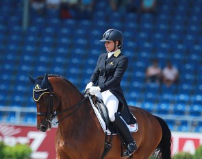 Micol Rustignoli and Corallo Nero at the 2015 European Dressage Championships :: Photo © Astrid Appels
