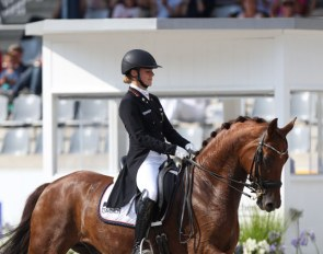 Jil Marielle Becks and Damon's Satelite at the 2018 CDIO-U25 Aachen :: Photo © Astrid Appels