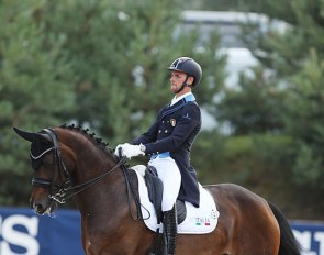 Filippo di Marco and Rockabella at the 2018 European Young Riders Championships :: Photo © Astrid Appels