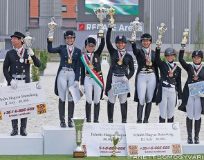 The FEI level gold medal winners at the 2018 Hungarian Dressage Championships :: Photo © Anett Somogyvári