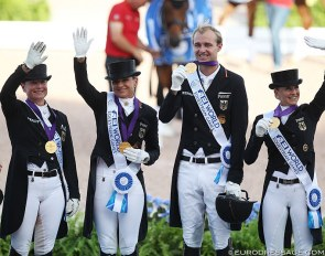 Germany wins team gold at the 2018 World Equestrian Games :: Photo © Astrid Appels
