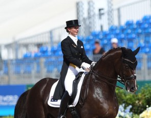 Kristy Oatley and Du Soleil at the 2018 World Equestrian Games :: Photo © Astrid Appels