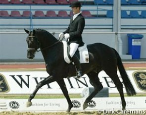 Ulf Möller and Don Davidoff at the 2002 World Young Horse Championships in Verden :: Photo © Dirk Caremans