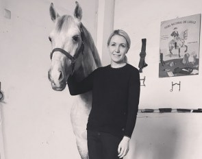 Piaffe's ceo Abby Newell at Marchanta Equestrian in Portugal