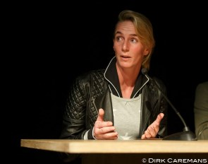Imke Schellekens-Bartels at the 2015 Global Dressage Forum :: Photo © Dirk Caremans