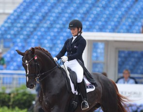 Alexis Hellyer and Bluefields Floreno at the 2018 World Equestrian Games :: Photo © Astrid Appels
