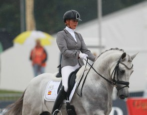 Emmelie Scholtens and Genciano BCN at the 2014 World Young Horse Championships :: Photo © Astrid Appels