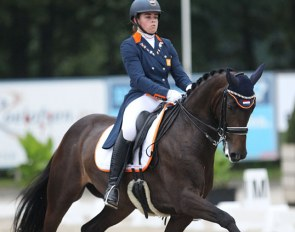 Jasmien de Koeyer and Esperanza at the 2017 European Young Riders Championships :: Photo © Astrid Appels