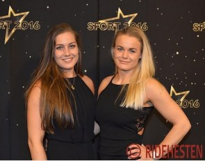 "Cathrine Dufour and her long-time girlfriend Katrine Ørskov Hedeman at the DR's Sports Gala 2016, where Cathrine won the ""Olympic Hope"" award :: Photo © Ridehesten"