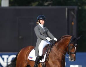Olga Ivanova and Avans at the 2018 European Young Riders Championships :: Photo © Astrid Appels