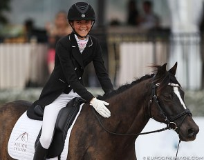 Canadian Scarlett Hansen is taking the FEI Dressage pony world by storm in North America :: Photo © Astrid Appels