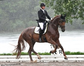 Walter Wadenspanner and Davanti in the pouring rain at the CDN Ingolstadt :: Photo © Rainer Dill