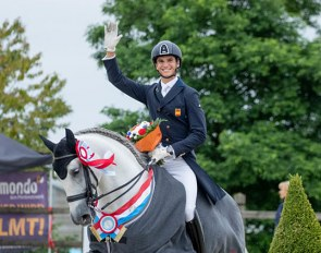 Juan Matute Guimon and Guateque IV win the Inter I at the 2019 CDI Leudelange :: Photo © Lily Forado