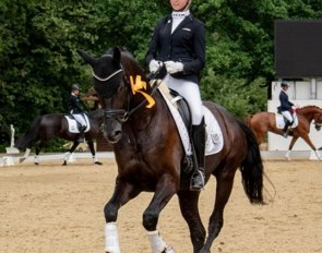 Charlotte Tollhopf on Maximus at the 2019 CDN Steinhagen
