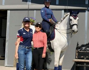 Charlotte Bredahl coached seven riders at 2019 USPRE Sports Initiative Clinic in California