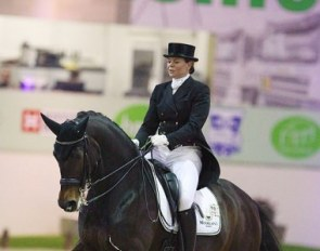 Tosca Visser and Asther de Jeu at the 2018 CDI Lier :: Photo © Astrid Appels