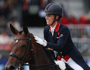 Charlotte Dujardin and Mount St. John Freestyle at the 2019 European Dressage Championships :: Photo © Astrid Appels