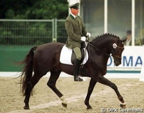 Michael Thieme and D'Olympic at the 2000 World Championships for Young Dressage Horses in Arnheim :: Photo © Dirk Caremans