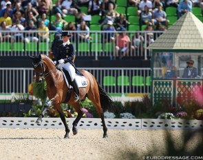 Australian Lyndal Oatley and Sandro Boy at the 2016 Olympic Games in Rio de Janeiro :: Photo © Astrid Appels