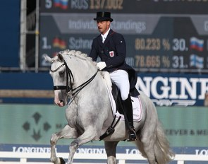 Sascha Schulz and Dragao at the 2019 European Dressage Championships :: Photo © Astrid Appels