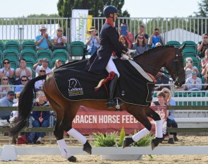 Carl Hester and Nip Tuck win the 2019 British Dressage Championships :: Photo © Kevin Sparrow