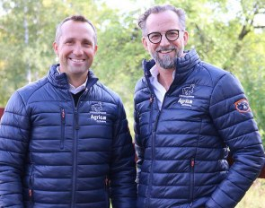 Kristian von Krusenstierna and  Peter Härnstam of DressagePower Academy