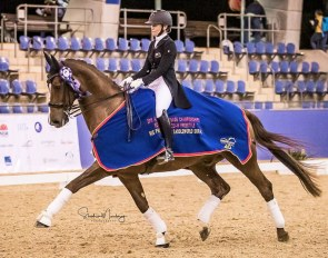 Wendi Williamson and Don Amour MH win the 2019 CDI-W Sydney :: Photo © Stephen Mowbray