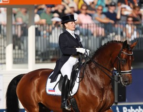 Elena Sidneva and Fuhur at the 2019 European Dressage Championships :: Photo © Astrid Appels