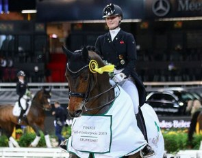 Bianca Nowag and Sir Hohenstein win the 2019 Piaff Forderpreis Finals :: Photo © LL-foto