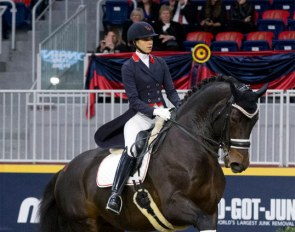 Naima Moreira Laliberté and Steeped in Luck at the Dressage Derby at the 2019 Toronto Royal Horse Show:: Photo © Cealy Tetley