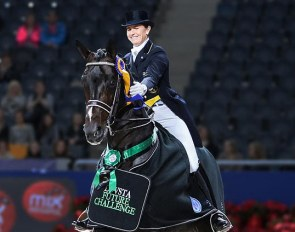 Tinne Vilhelmson won the Swedish Lovsta Future Challenge for Developing GP Horses in Sweden in 2014 on Benetton Dream