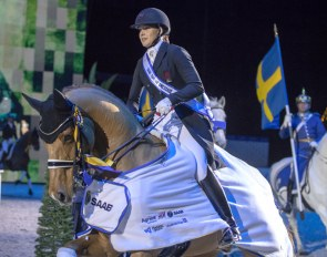Dufour and Cassidy win the 2019 CDI Stockholm Grand Prix Kur to Music :: Photo © Ronald Thunholm