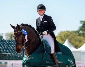 Camille Carier Bergeron and Sound of Silence 4 posted enviable scores for top three placings in the Young Rider division at 2020 CDI Palm Beach Derby :: Photo © Lily Forado