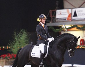 Edward Gal and Jack Sparrow at the 2011 KWPN Stallion Competition show in Roosendaal :: Photo © Astrid Appels