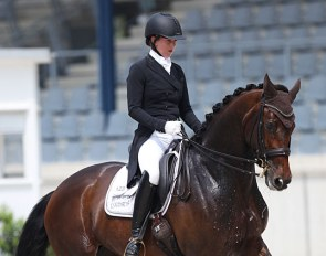 Lisa Müller and Anne Beth at the 2018 CDI Aachen Dressage Days :: Photo © Astrid Appels