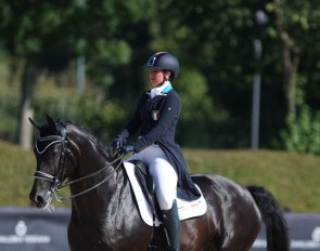 Serena Fumagalli and Black Panter at the 2019 European Under 25 Championships :: Photo © Astrid Appels