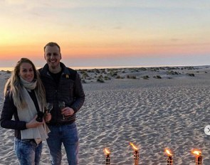 Newly engaged: Dinja van Liere and Robin van der Starre