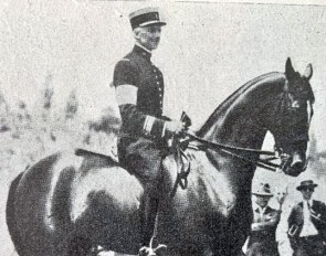 The long legged French bred thoroughbred Taine xx presented a challenging conformation, but won two Olympic gold medals in 1932. :: Photo courtesy St.Georg