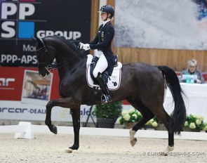 Ann Kathrin Lindner and Sunfire at the 2020 CDI Lier in February :: Photo © Astrid Appels