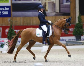 Micky Schelstraete and Wonderful Girl at the 2020 CDI Lier :: Photo © Astrid Appels