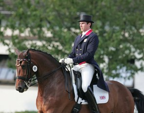 Charlie Hutton and Abira at the 2010 European Young Riders Championships in Kronberg :: Photo © Astrid Appels