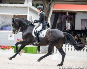 Henriette Schmidt and Rocky's Sunshine at the 2020 European Young Riders Championships :: Photo © Lukasz Kowalski